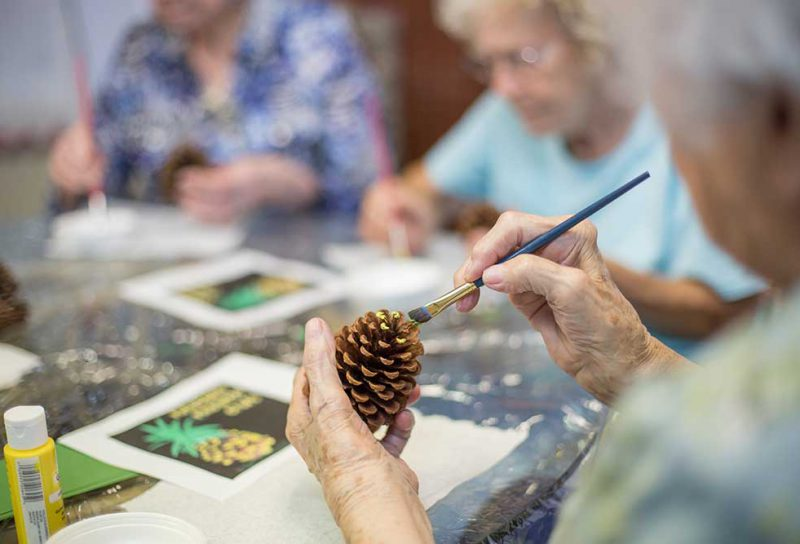 Female Residents Enjoying Craft Time