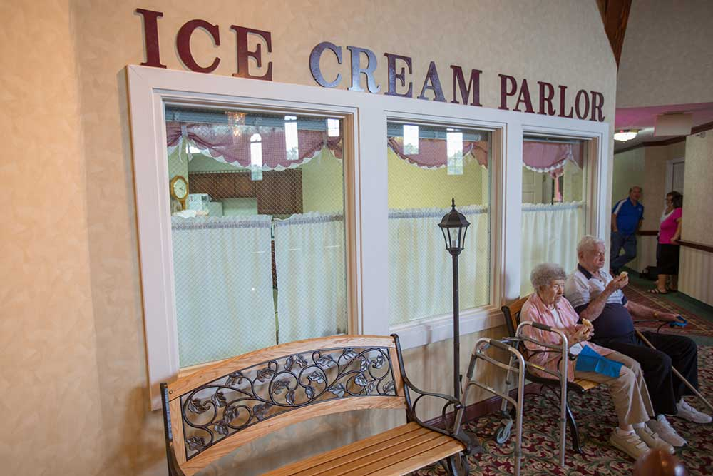 Anderson Residents Enjoying Ice Cream Parlor