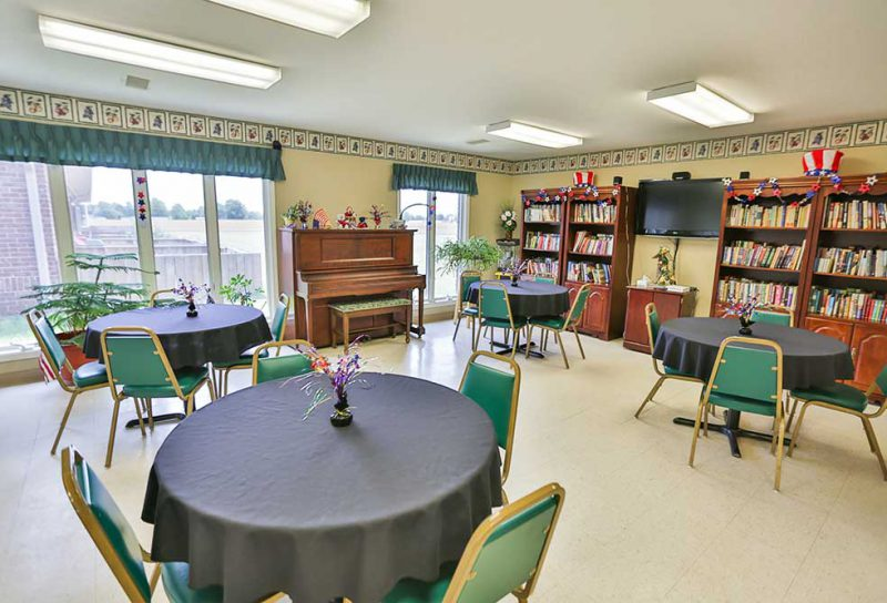 Hartford City Activity Room CrownPointe Communities
