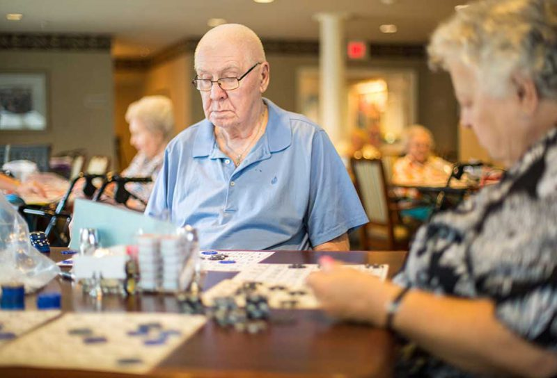 Lebanon Residents Playing Bingo CrownPointe Communities