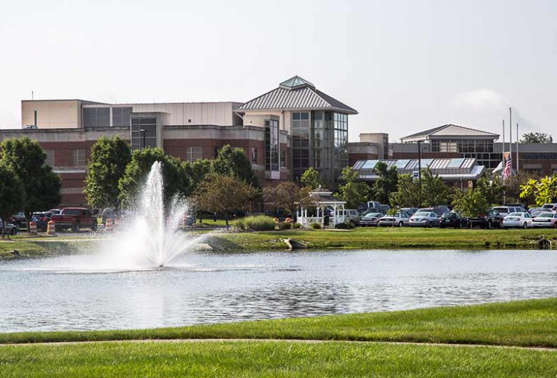 CrownPointe of Lebanon Campus With Fountain